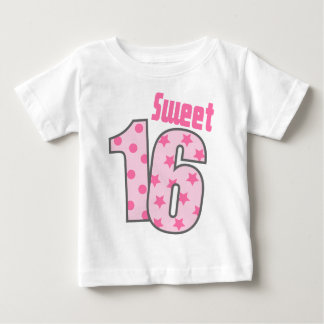 Sweet 16 (Pink Dots And Stars) Baby T-Shirt