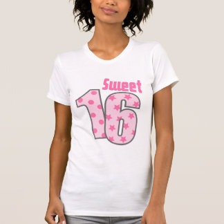Sweet 16 (Pink Dots And Stars) T-Shirt