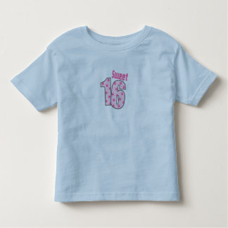 Sweet 16 (Pink Dots And Stars) Toddler T-shirt
