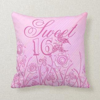 Sweet 16 pink roses pillow