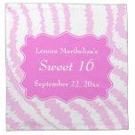 Sweet 16 Pink Zebra Print Pattern Cloth Napkin