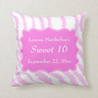 Sweet 16 Pink Zebra Print Pattern Pillows