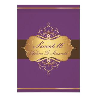 Sweet 16/ plum chocolate/ tiara card