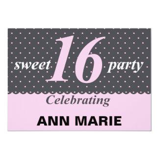 Sweet 16 Polka Dot Party Invitation