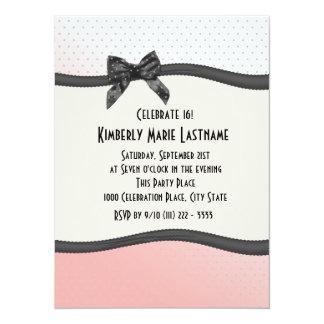 Sweet 16 Polka Dots and Ribbon Card