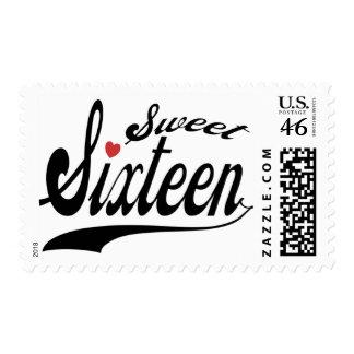 Sweet 16 stamp