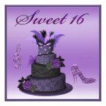 Sweet 16 Purple Diva Cake, Sparkle High Heels Announcement