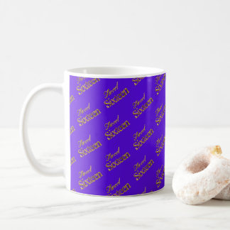 Sweet 16 Purple Gold Typography Pattern Coffee Mug