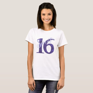 Sweet 16 Purple   Watercolor 16th Birthday Party T-Shirt