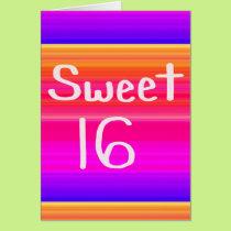 Sweet 16 Rainbow Card