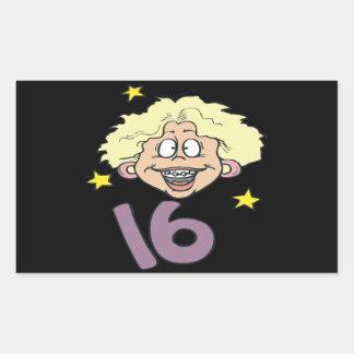 Sweet 16 rectangular sticker
