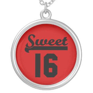 Sweet 16 round pendant necklace