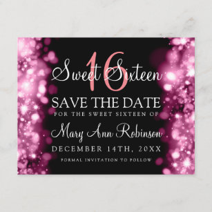 sweet 16 save the date cards zazzle