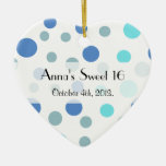 Sweet 16 - Seamless Dots, Spots - Blue Christmas Ornaments