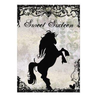 The best sweet 16 birthday invitations silhouette horse sweet 16 sweet 16 silhouette horse birthday invitation filmwisefo