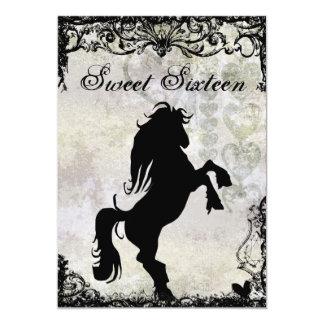 Sweet 16 Silhouette Horse Birthday Invitation