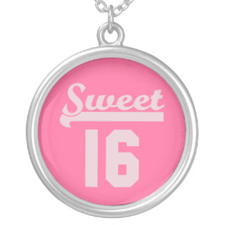 Sweet 16 silver plated necklace