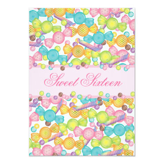 Sweet 16 Sixteen Candy Collection in Pink Brown Invitations