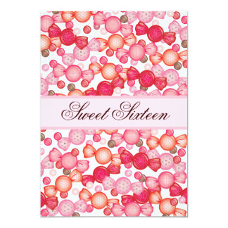 Sweet 16 Sixteen Candy Collection in Pink Invite