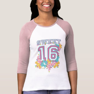 Sweet 16 Sixteen Candy Collection Sporty Pink Teal T-shirts