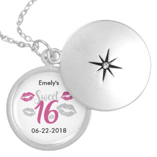 Sweet 16 (Sixteen) Silver Plated Necklace