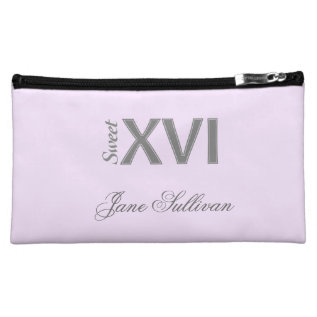 Sweet 16 Special Birthday Xvi Cosmetic Bag at Zazzle