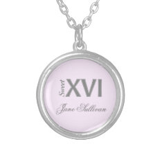 Sweet 16 Special Birthday XVI Pendant at Zazzle