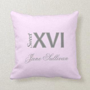 Sweet 16 Special Birthday Xvi (s) Throw Pillow at Zazzle