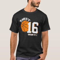 SWEET 16 SPORT Inspired GRAPHIC Birthday Tee