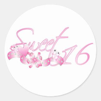 Sweet 16 round sticker