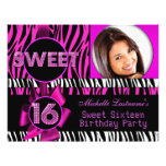 Sweet 16 Sweet Sixteen Hot Pink Zebra Photo Personalized Flyer