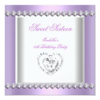 Sweet 16 Sweet Sixteen Lilac Diamonds Lace Image Card