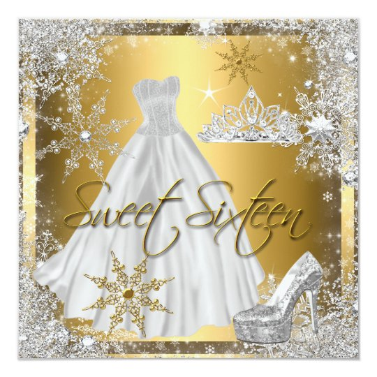 Sweet 16 Sweet Sixteen Silver White Gold Elite Card