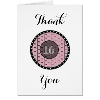 Sweet 16 thank You Notes
