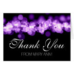 Sweet 16 Thank You Purple Bokeh Lights Greeting Cards