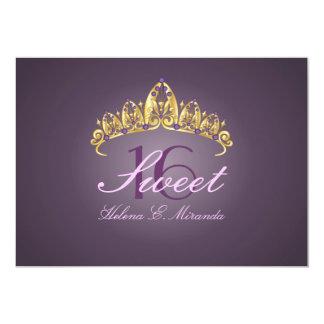 Sweet 16/ tiara/amethyst invitations