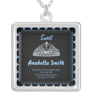 Sweet 16 tiara custom necklace
