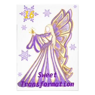 Sweet 16 Transformation-Customize Personalized Invitations