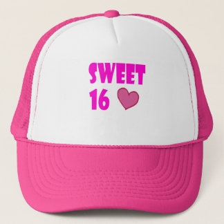 sweet 16 trucker hat