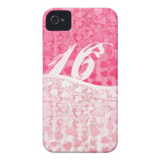 Sweet 16 two tones hearts iPhone 4 cover