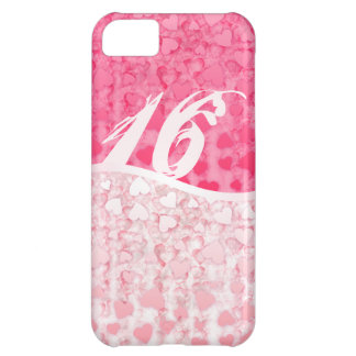 Sweet 16 two tones hearts iPhone 5C cases