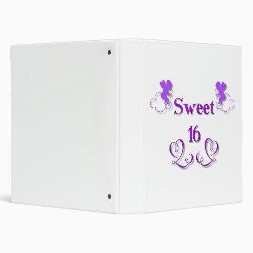 Sweet 16 vinyl binders