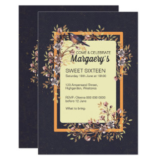 Sweet 16 Watercolor Florals Card