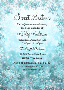 snowflake invitations zazzle