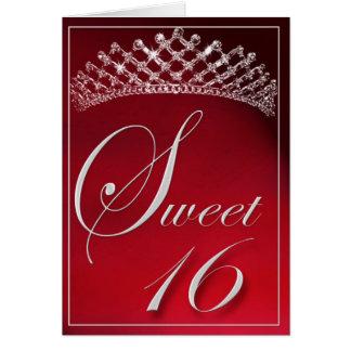 Sweet 16 with a tiara! card