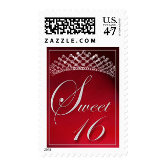 Sweet 16 with a tiara! postage