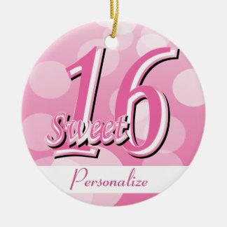 Sweet 16 Word Art   16th Birthday Ceramic Ornament