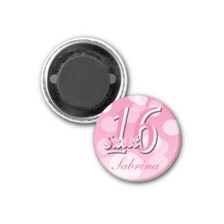 Sweet 16 Word Art   16th Birthday 1 Inch Round Magnet