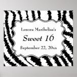 Sweet 16 Zebra Print Pattern