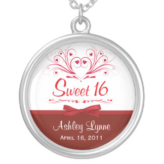 Sweet 16th Birthday Gift - Personalized Pendant